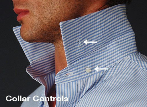 The todd shelton approach to controlling a point collar for Hidden button down collar shirts