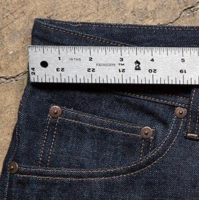 How to measure your jean waists
