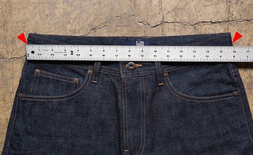 How to measure a Todd Shelton jean waist