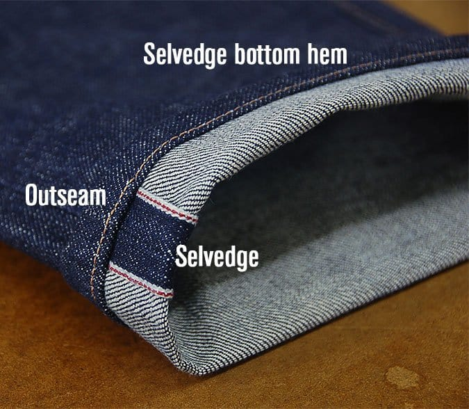 selvedge denim jean cuff