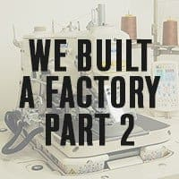 The Todd Shelton brand: we built a factory in NJ