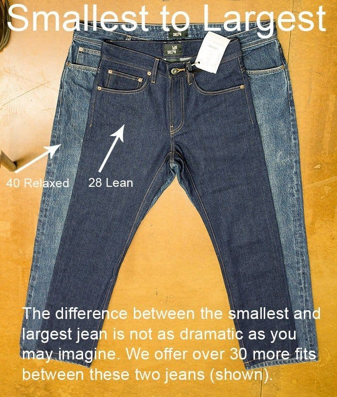 Best Fitting Jeans - size range