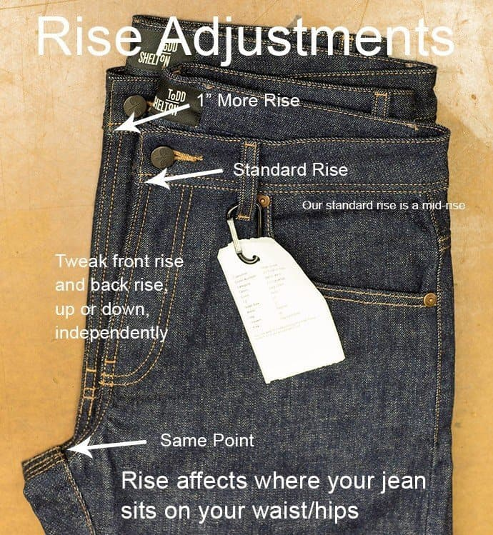 Best Fitting Jeans - rise adjustments