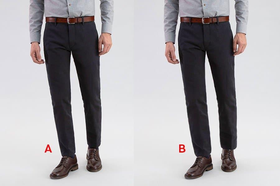 pant leg opening measuring