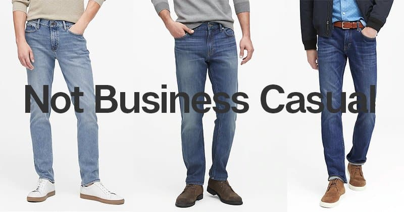 not business casual jeans