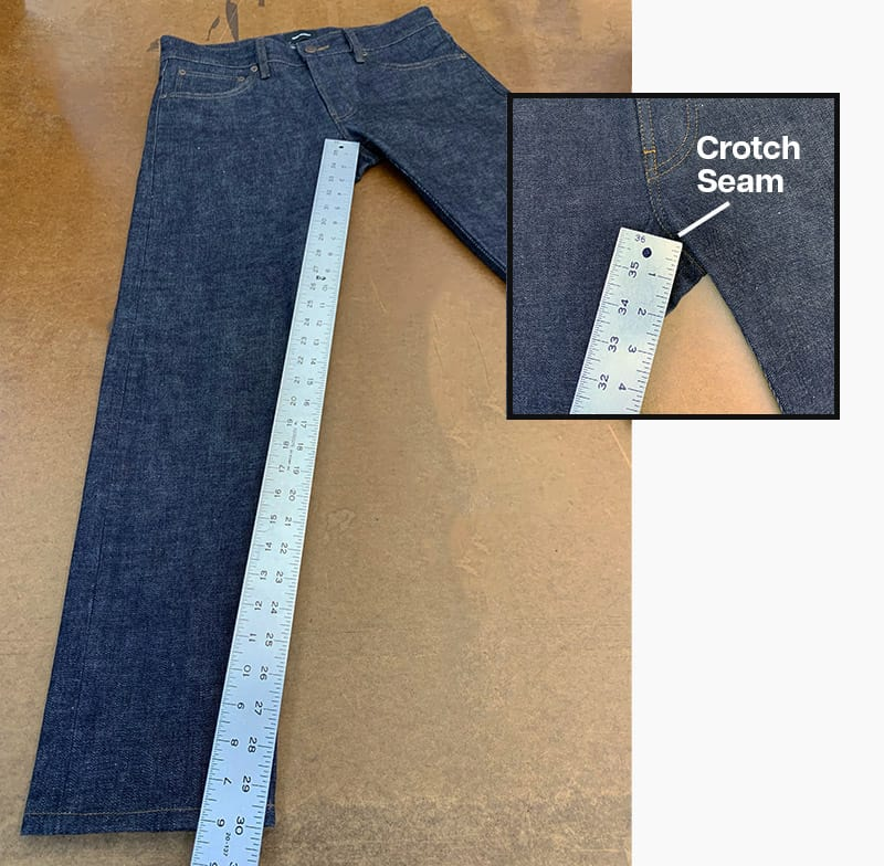 Jean Inseam Length Measurement