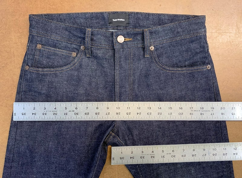 Jean Seat and Thigh Measurement
