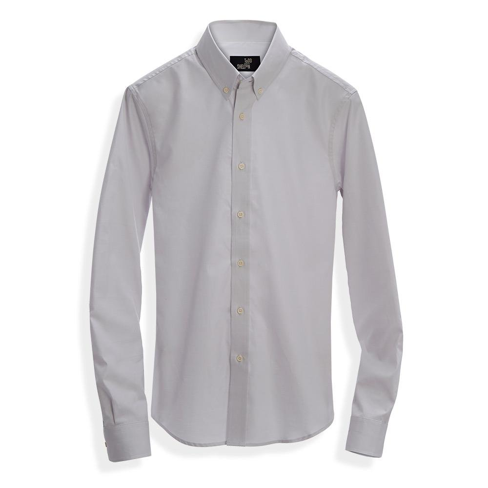 Pinpoint Oxford Shirt Pale Grey 100 American Made