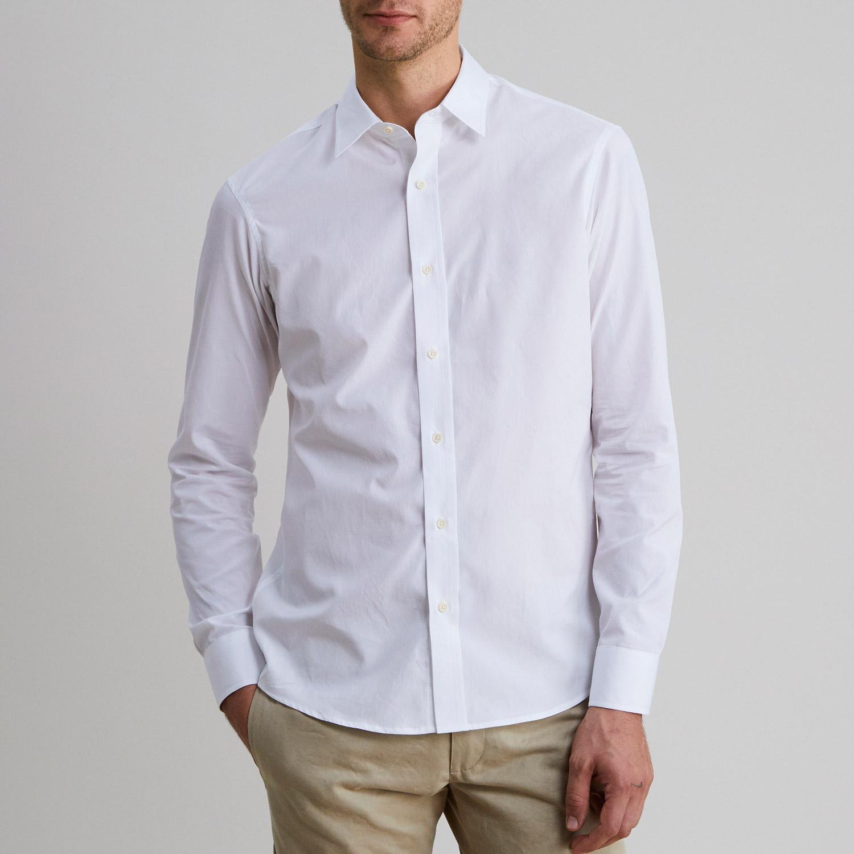Standard poplin shirt white todd shelton for What is a poplin shirt