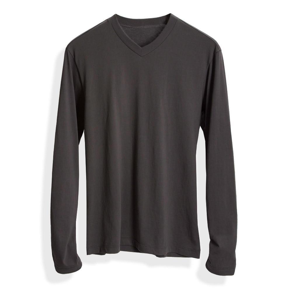 Long sleeve vneck t shirt long sleeve length for Long length long sleeve t shirts
