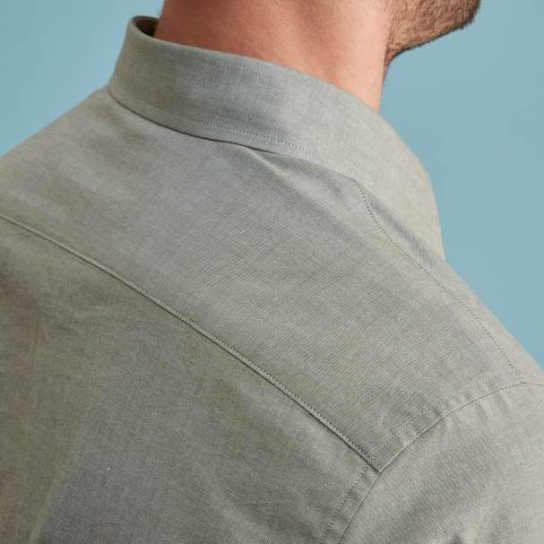 Green Chambray Men's Shirt Made In USA
