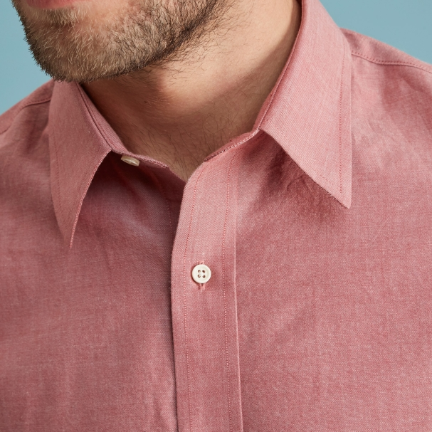 Red Chambray Shirt