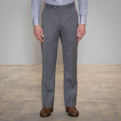 Proprietor Light Grey Relaxed Fit Pants