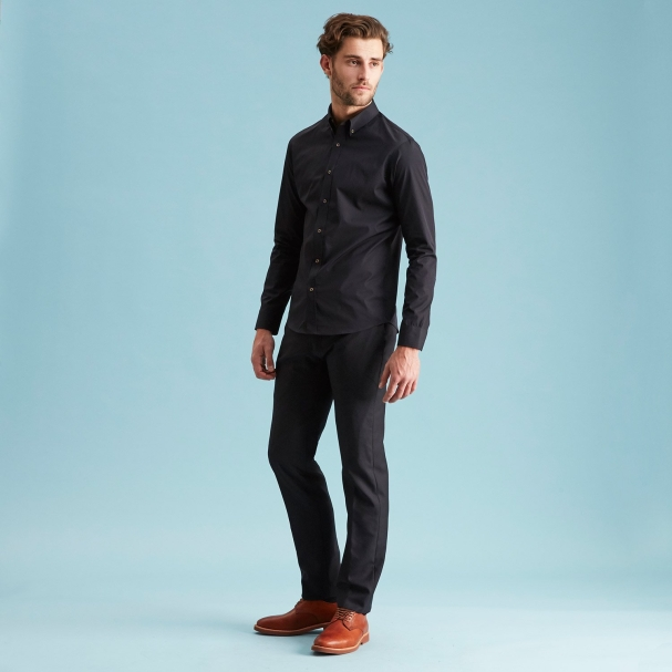 Going Out Deluxe Black Shirt - Button Down