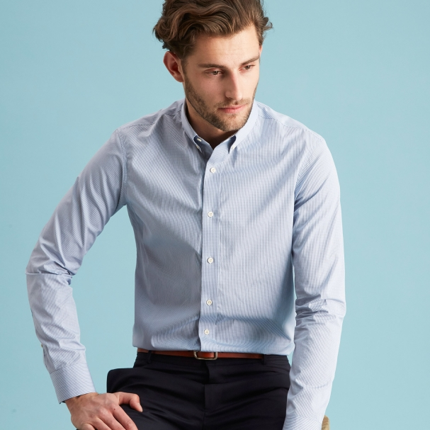 Blue Berry Grids Shirt - Button Down