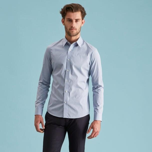 Blue Berry Grids Shirt