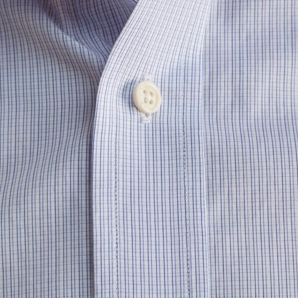 Checkbook Blue Poplin Shirt