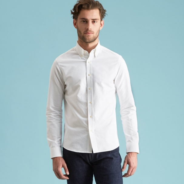 Field Oxford Shirt White - Button Down
