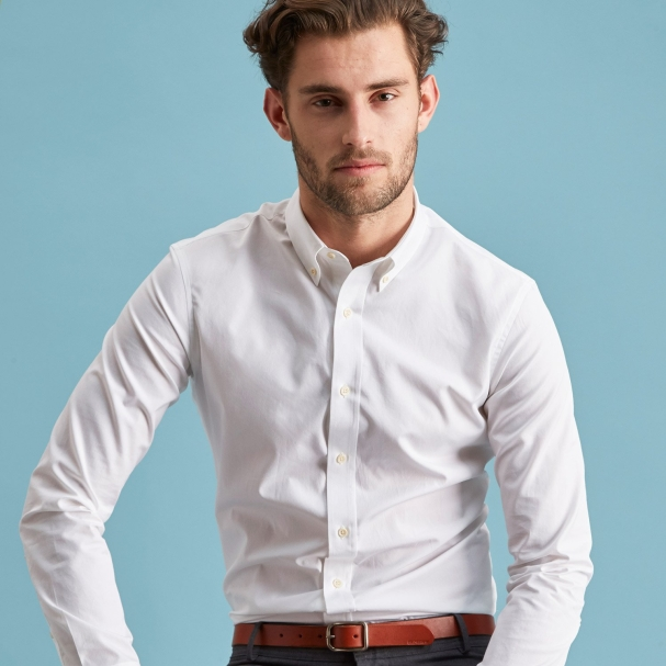 Standard Poplin Shirt White - Button Down - Todd Shelton