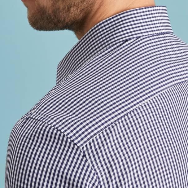 Box Check Navy Shirt - Button Down