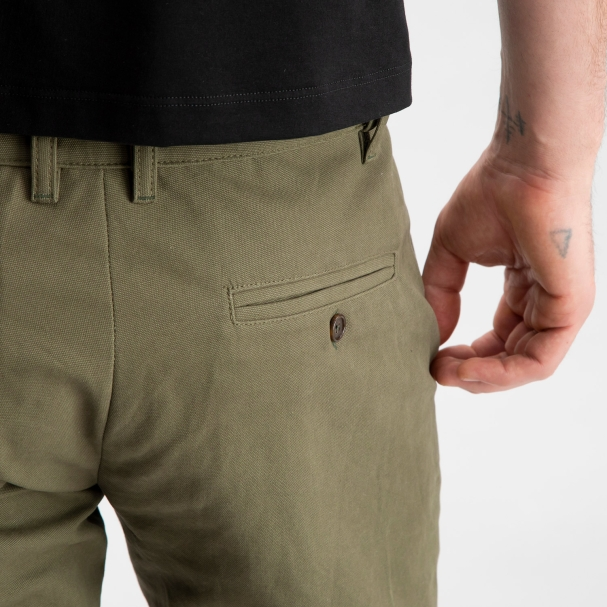 Canvas Shorts Olive