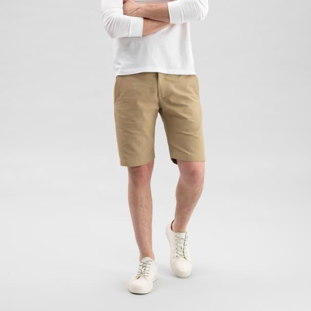 Canvas Shorts Tan
