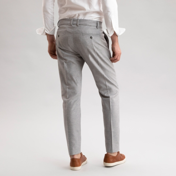 Flannel Wool Trouser Light Grey