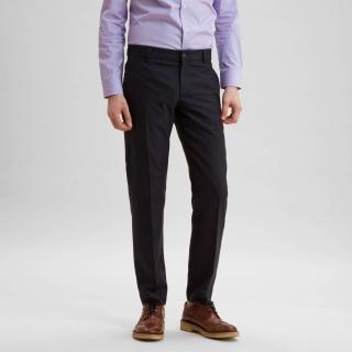 Wool Office Trouser Midnight Navy Pinstripe