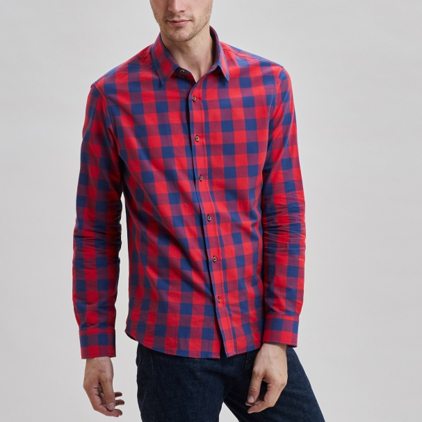 Chambray Shirt Buffalo Plaid