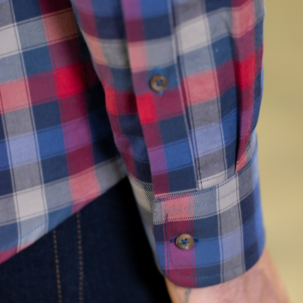 Factory Clean-Out / Blue Box Plaid Shirt