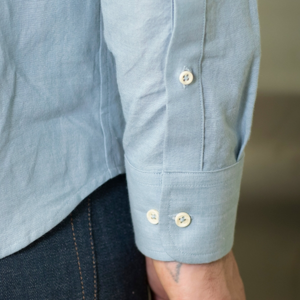 Factory Clean-Out / Chambray Shirt Vintage Blue