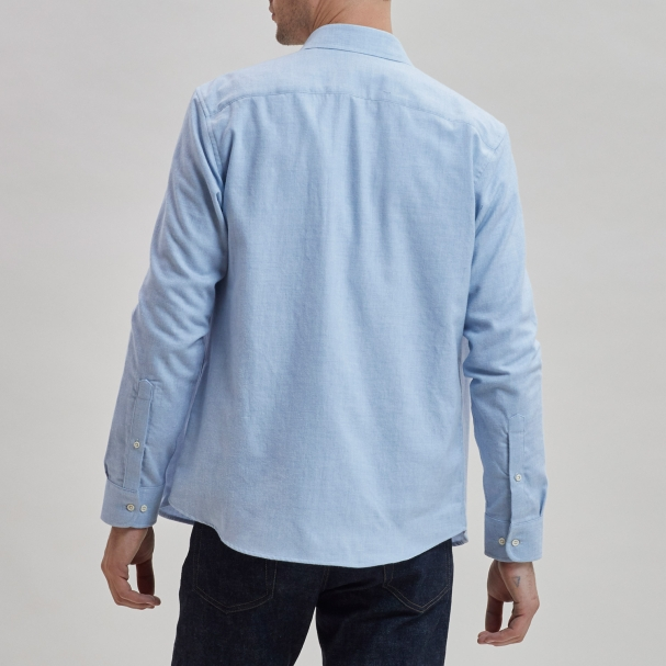 Brushed Cotton Overshirt Light Blue