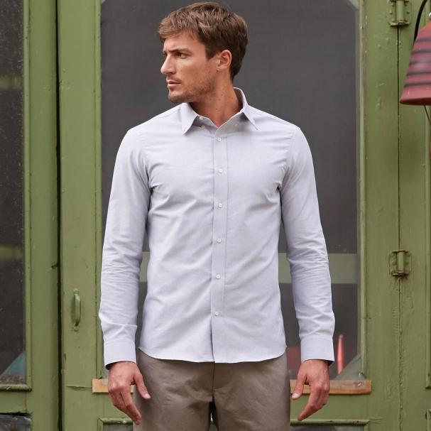 Casual Oxford Light Grey Shirt