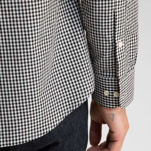Black Gingham Pinpoint Oxford