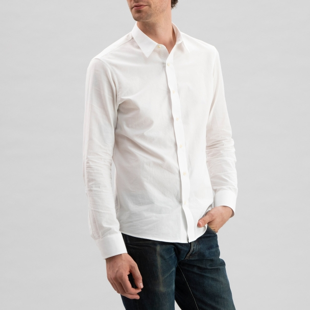Chambray Shirt Off-White