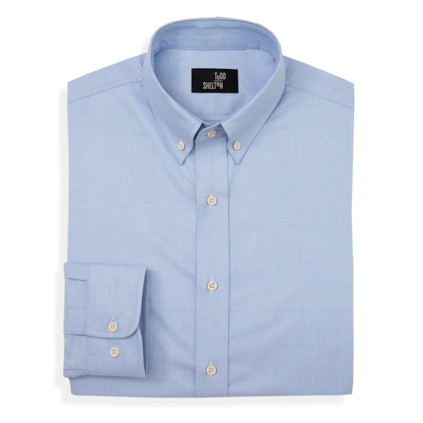 Blue Oxford Button Collar Shirt