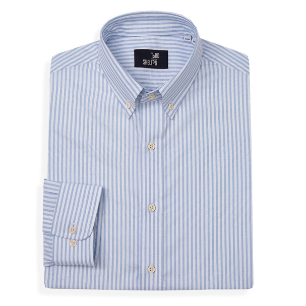 Classic Oxford Shirt Blue Stripe - Button Down