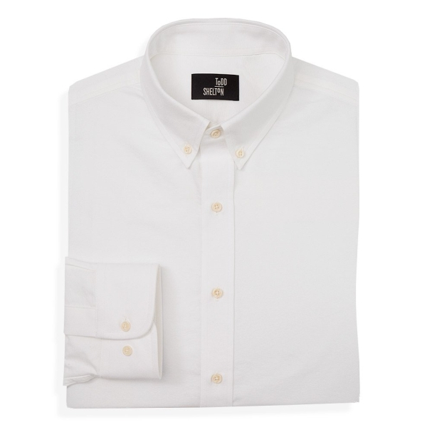 White Oxford Shirt Button Down Collar
