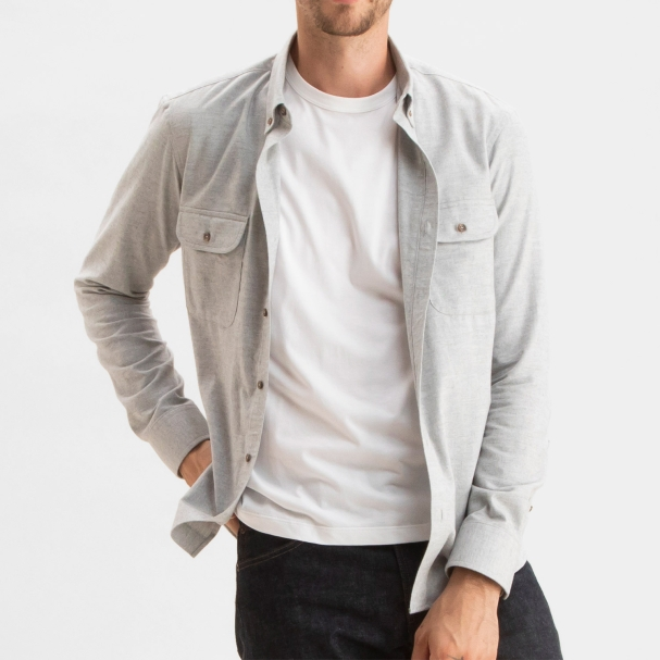 Cotton Cashmere Overshirt Heather Grey