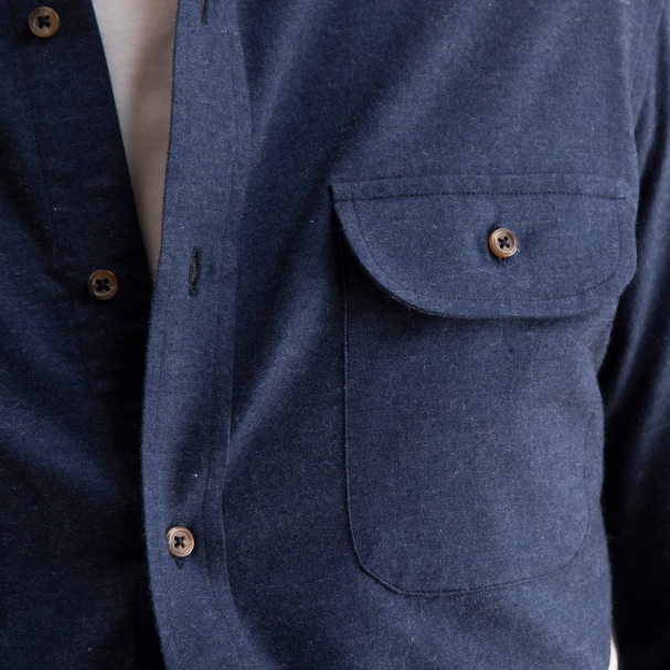 Cotton Cashmere Overshirt Heather Navy