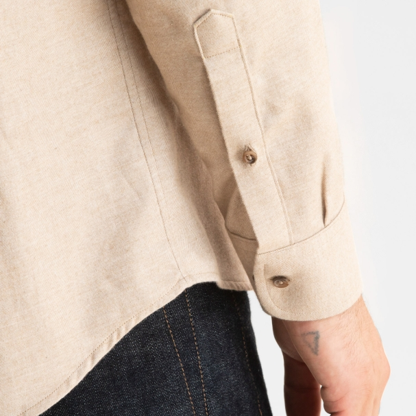 Cotton Cashmere Overshirt Heather Tan