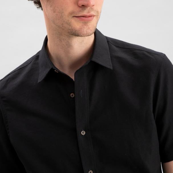 Linen Shirt Black