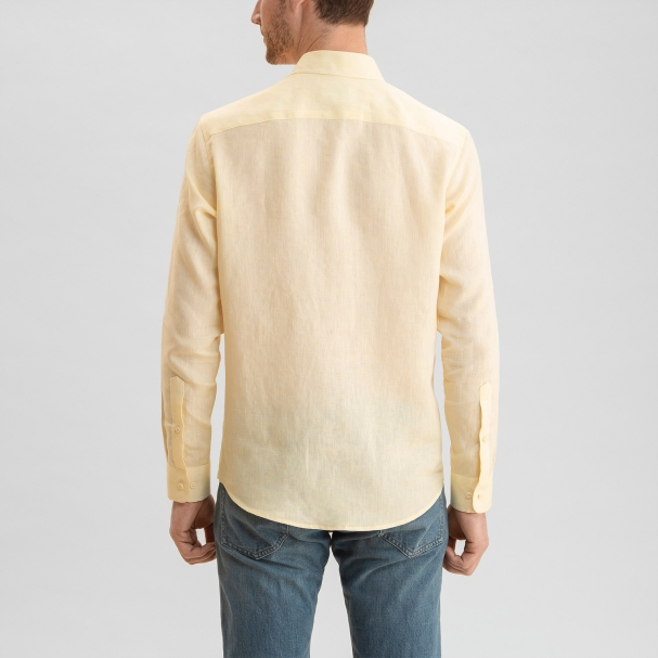 Linen Shirt Pale Yellow