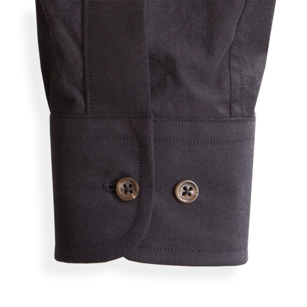 Todd Shelton Paper Poplin Black Shirt Cuff