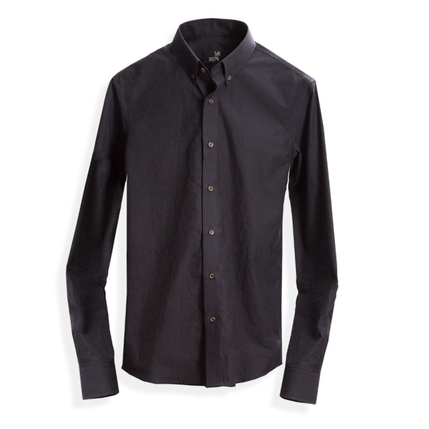 Todd Shelton Paper Poplin Black Shirt