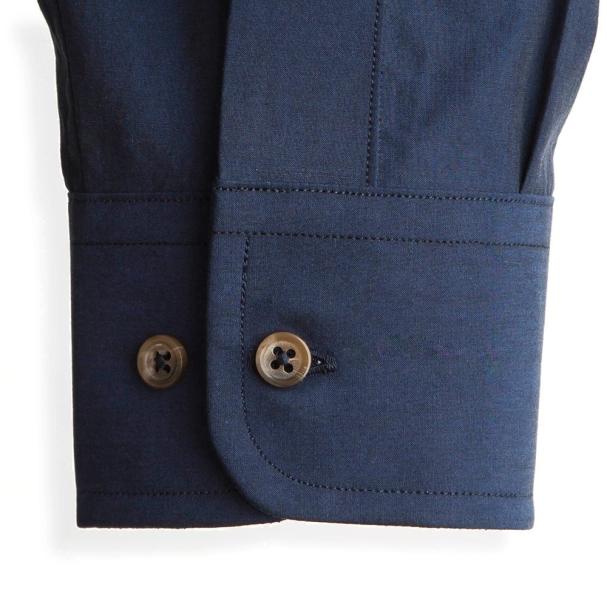 Todd Shelton Paper Poplin Navy Shirt Cuff