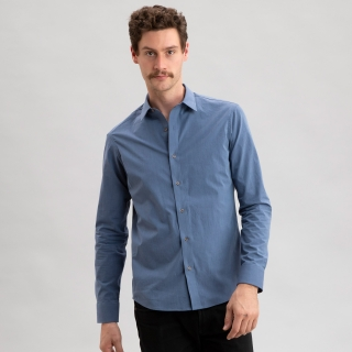Carbon Blue Test Fabric Shirt