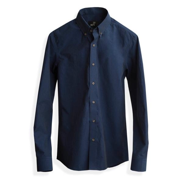 Todd Shelton Paper Poplin Navy Shirt
