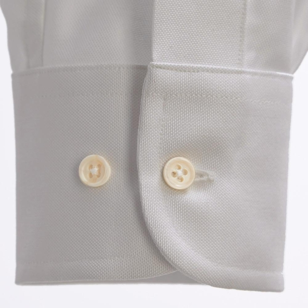 Pinpoint Grey Shirt Cuff