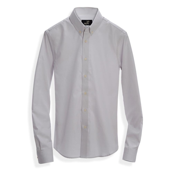 Pinpoint Grey Button-down